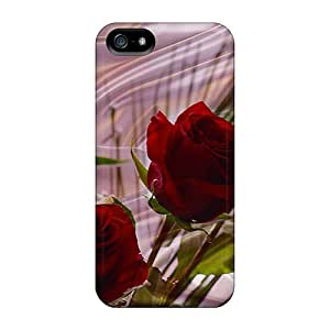 New Diy Design Red Roses For Iphone 5/5s Cases Comfortable For Lovers And Friends For Christmas Gifts