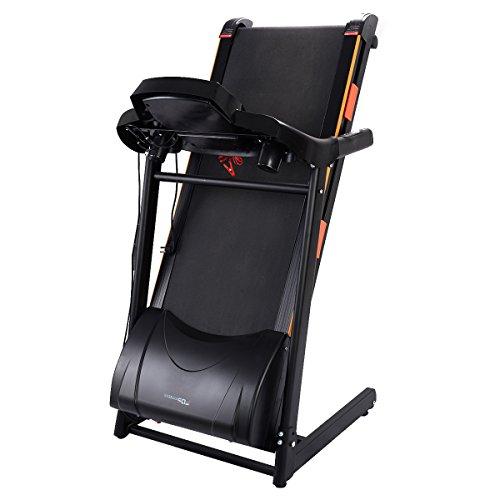 Goplus 1000W Folding Electric Treadmill Motorized Power Treadmill Portable Running Gym Fitness Machine
