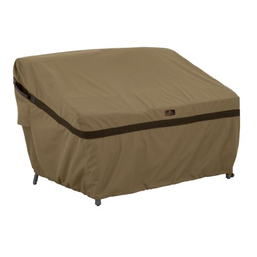Classic Accessories Hickory Heavy Duty Patio Sofa/Loveseat Cover – Durable and Water Resistant Patio Cover, Medium (55-221-032401-EC)