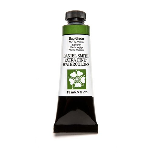 DANIEL SMITH Extra Fine Watercolor 15ml Paint Tube, Sap Green