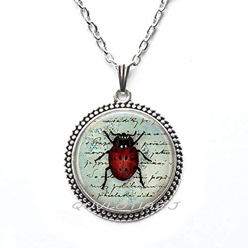(QUVLOTIAZJ Ladybug Necklace Girls Jewelry Teen Necklace Tween Necklace Jewelry Birthday Gift Ladybug Jewelry Ladybug,Girls Jewelry,ot173 (A1) )