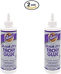Aleene\'s Quick Dry Tacky Glue 8oz (2 pack)