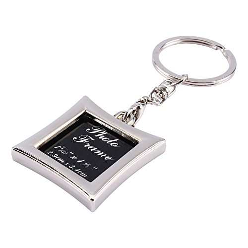 Photo Snap-in Metal Keychain Insert Photo Picture Frames Gifts Keyring Keychain Key Holder Commemorative Keychains (Creative Things To Put In A Locket)