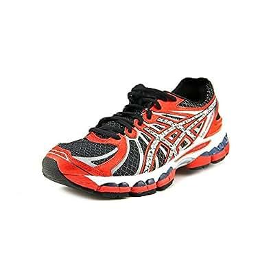 ASICS Men's GEL-Nimbus 15 Running Shoe (9.5 D(M) US, Black/Lightning/Red Pepper)