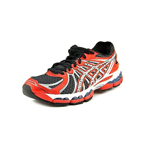 ASICS Men's GEL-Nimbus 15 Running Shoe (9.5 D(M) US, Black/Lightning/Red Pepper)