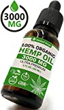 Hemp Oil Extract for Pain, Anxiety & Stress Relief – 3000MG / 30ML