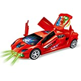 Zest 4 Toyz Funny Dancing car 3D Flashing Led Light Music 360 Degree Rotating Car with Openable Door Sound Electric Cars Toys for Children Kids Toys Gift