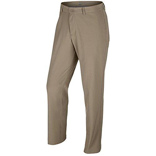 (Nike Flat Front Stretch Woven Pants 2016 Khaki/Dark Grey/Wolf Grey 36/32)