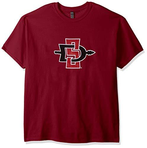 NCAA San Diego State Aztecs Men's Ouray Short Sleeve Tee, Cardinal, Large