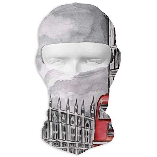 Wind-Resistant Balaclava Hood, London Big Ben Red Bus Ski Mask for Skiing Motorcycle ()