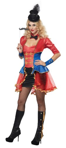 California Costumes Women's Eye Candy - Ringmaster Adult, Red/Blue, Large ()