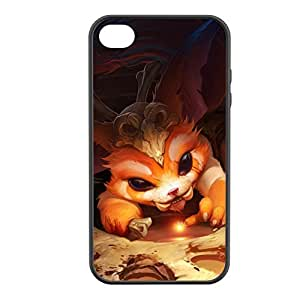 Gnar-001 League of Legends LoL case cover for Apple iPhone 4 / 4S - Rubber Black by icecream design