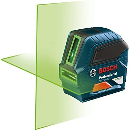Bosch GLL75 40G Green Beam Self Leveling Cross Line