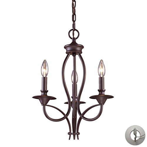 Medford 3-Light Chandelier In Oiled Bronze Includes An Adapter Kit To Allow For Easy Conversion Of A Recessed Light To A - Stores Medford In