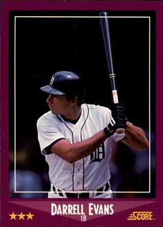 Amazoncom 1988 Score Baseball Card 75 Darrell Evans Mint