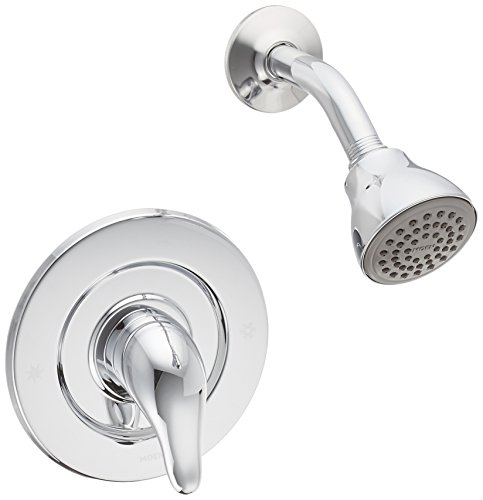 Moen TL473 Single Handle Shower Trim Kit with Metal Lever, Chrome (Chrome Faucets Modern Shower Moen)