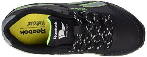 Reebok Unisex-Kinder Royal Classic Jogger 2rs Laufschuhe Schwarz (Black/Flint Grey/Solar Green)