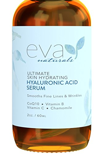 Eva Moisturizer - Eva Naturals Hyaluronic Acid Face Serum, Anti-Aging, Moisturizing Wrinkle Serum with Vitamin C, B