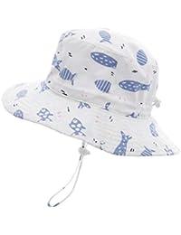 2c39f93bffc1f Baby Sun Hat Bucket - Outdoor Beach Summer Hats for Toddler Boys Girls UPF  50+