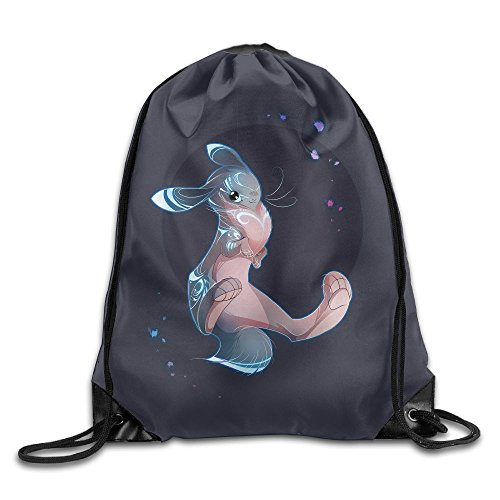 CUW BBCUW Magical Rabbit Fashion Drawstring Backpack Workout Sackpack for Men & Women School Travel Bag
