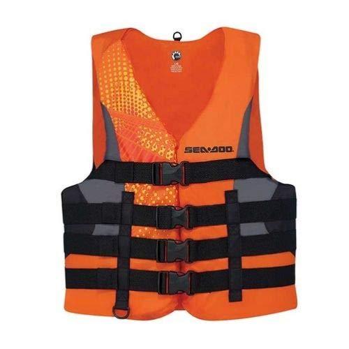 BRP sea-dooメンズナイロンモーションPFDライフベストジャケット( L、オレンジ)   B01N9XCZQB