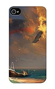 Flexible Tpu Back Case Cover For Iphone 5/5s - Whale In The Sky