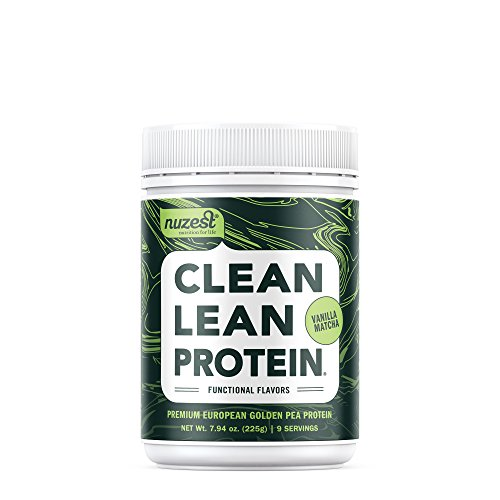 Nuzest Clean Lean Protein Functionals - Premium Vegan Protein Powder, European Golden Pea Protein, Dairy Free, Gluten Free, GMO Free, Naturally Sweetened, Vanilla Matcha, 9 Servings, 7.9 oz