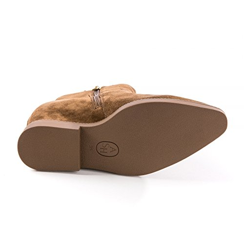 Negro Russet Goldie Ante De Zapatos Botines Ash Mujer 7gUn66