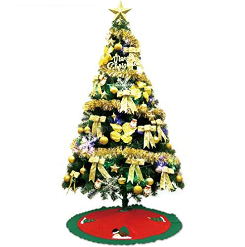 SPP PANDA Luxury 120cm Christmas Tree Christmas Ornament Traditional Forest Green Tree Ball Decorations Baubles Shatterproof