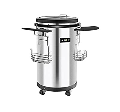 60 Can Single Zone Refrigerated Party Cooler in Stainless Steel