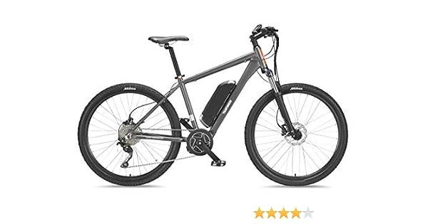 Telefunken Bicicleta eléctrica de montaña, Aluminio, Gris, con Cambio de 10 velocidades Shimano, Pedelec MTB Ligero, Motor Central de 250 W, tamaño de los neumáticos: 27,5 Pulgadas, Ascensor M801: Amazon.es: Deportes y