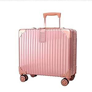 NJC Travel Suitcase Trolley 18 Inch Business Boarding Pass Suitcase Universal Wheel Aluminum Frame Box Trolley Case