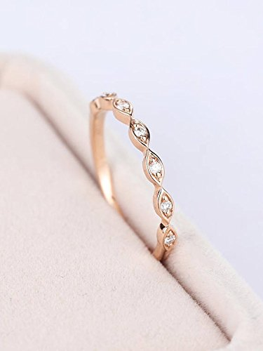 Diamond Natural White Diamond Wedding Women Bracelet Solid 14k Rose Gold Bridal Jewelry Sale Price Bridal & Wedding Party Jewelry