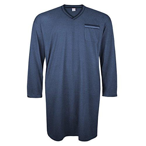 manica notte camicia Fashion Adamo Fashion Xxl da Blu lunga 8Ivx4w