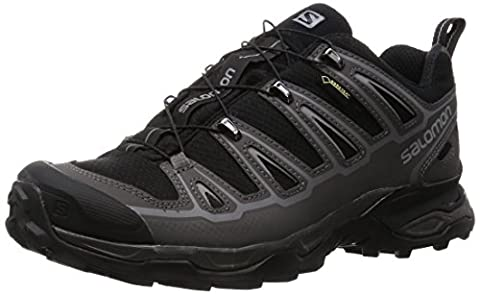 Salomon Men's X Ultra 2 GTX Hiking Shoe, Black/Autobahn/Pewter, 9.5