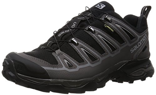 Salomon Men's X Ultra 2 GTX Hiking Shoe, Black/Autobahn/Pewter, 11 D US