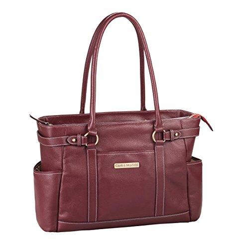 Clark & Mayfield Hawthorne Leather Laptop Handbag 17.3