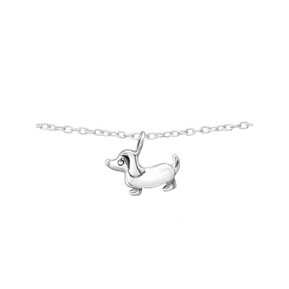 Worldjewelry 925 Sterling Silver Dog Silver Anklets