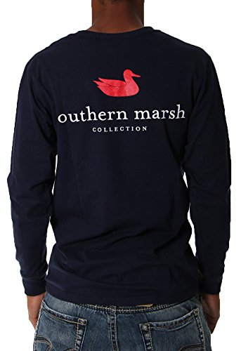(Southern Marsh Navy Authentic Long Sleeve T-Shirt-Medium)