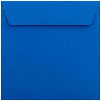 25 quadratische Briefumschläge mit Haftstreifen 155 x155 mm Dunkelblau 120 g//qm
