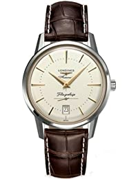 Longines Heritage Flagship Automatic Silver Dial Brown Leather Mens Watch L47954782