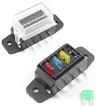 Fuse Box 4 Way For Mini Blade Fuses Ato Holder Block 12v Or 24v Car Hgv Amazon Co Uk Car Motorbike