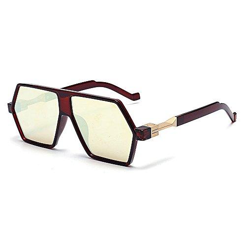 Verano la Irregular Mujeres de Gafas Ultravioleta Peggy Playa Color Las Gu únicas Gris Sol al de Rojo Vacaciones Aire Que Libre protección conducen para 7YqWWHFSyn