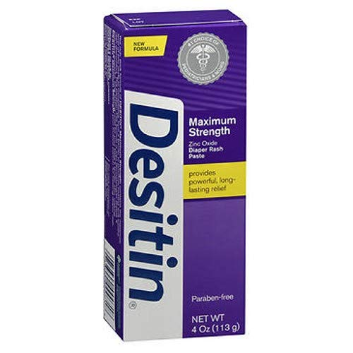 DESITIN Maximum Strength Diaper Rash Paste 4 Ounce (Pack of 2) by Desitin