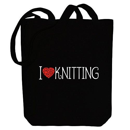 Knitting Tote style Idakoos Bag I cool love Canvas Hobbies HwfxvqSnR