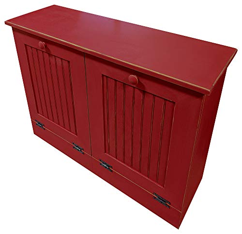 (Sawdust City Twin Tilt Out Trash Cabinets (Old - Red))