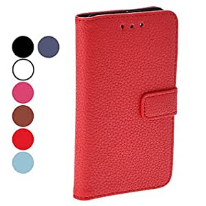 Litchi Grain Full Body PU Leather Protective Case with Stand for Blackberry Z10 (Assorted Colors) --- COLOR:Brown