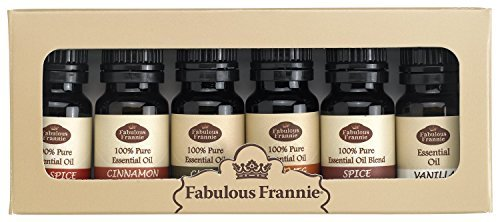 100% Pure Essential Oil Fall Set - Allspice, Cinnamon, Clove, Nutmeg, Vanilla, Spice Blend - Great for Aromatherapy