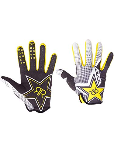 Fly Racing Rockstar Black-White-Yellow 2017 Lite Mx Gloves (Xl, Yellow)