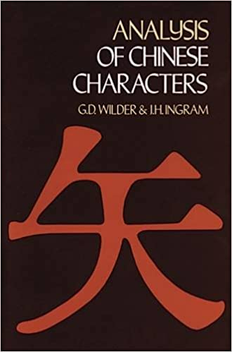 Amazon Analysis Of Chinese Characters Dover Language Guides